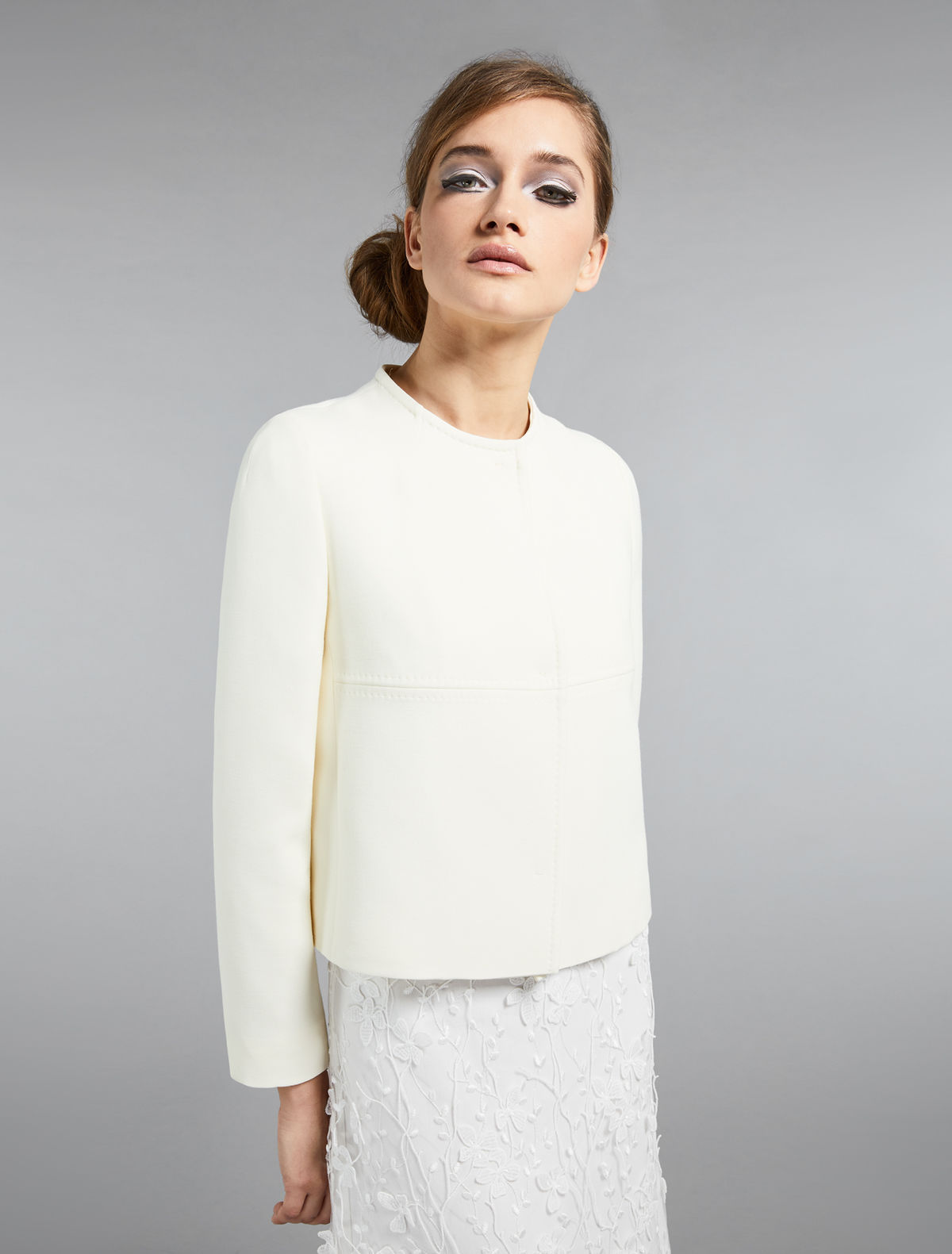 Silk and wool cady jacket