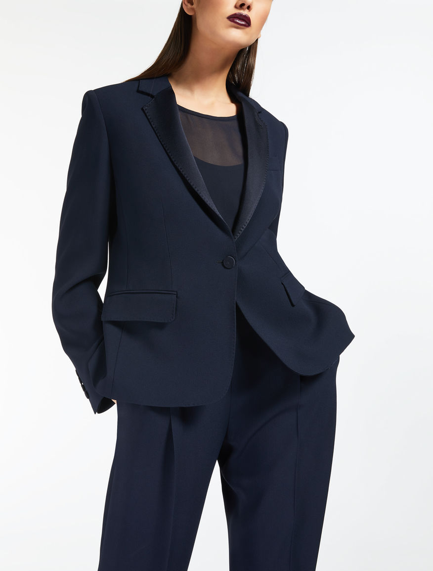 Blazer in envers satin crêpe