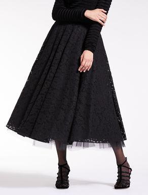 Falda de encaje rebrodé