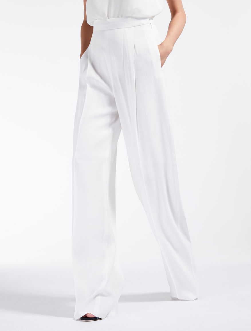 Pantaloni in envers satin crêpe