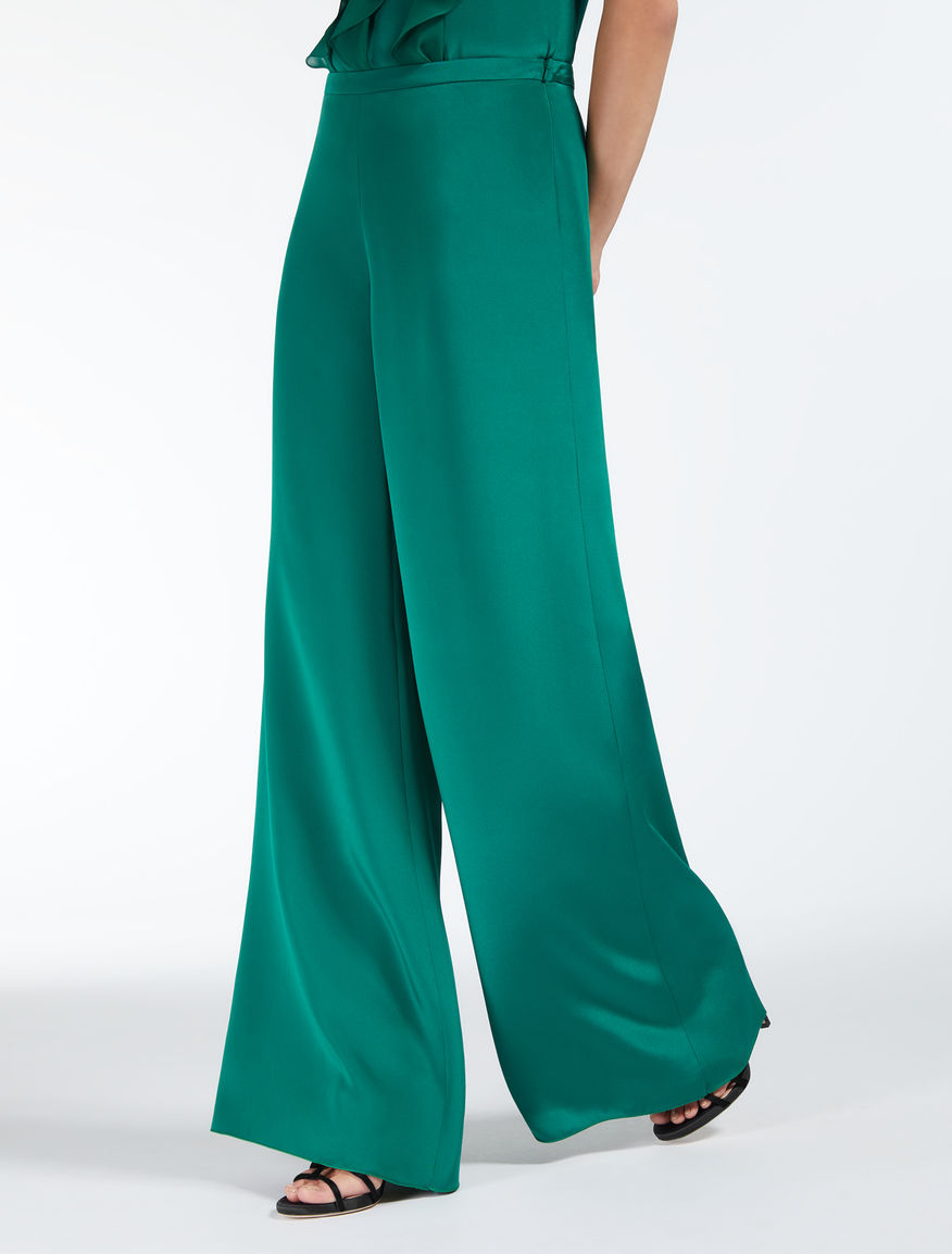 Pantalon en crêpe de Chine de soie