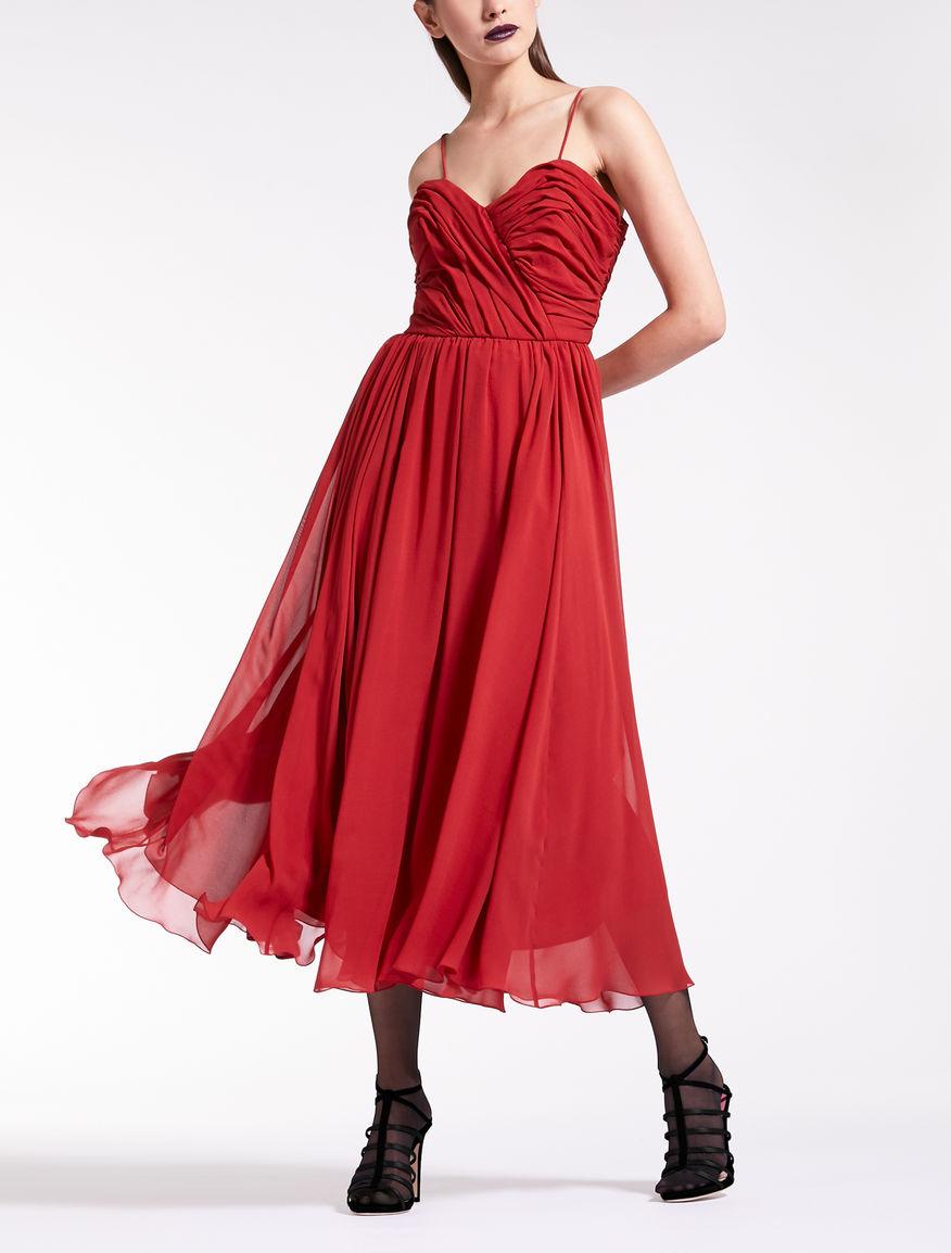 Kleid aus Seiden-Georgette