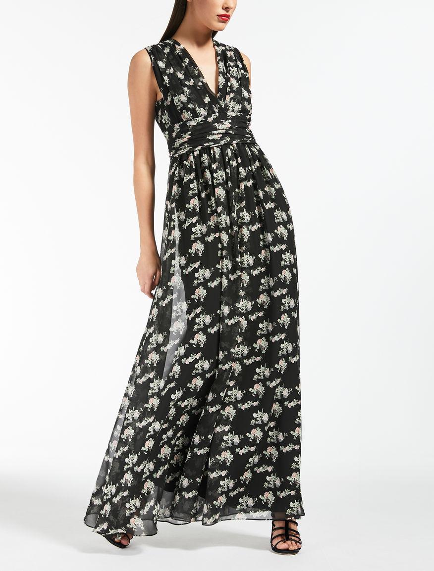 Kleid aus bedrucktem Seiden-Georgette