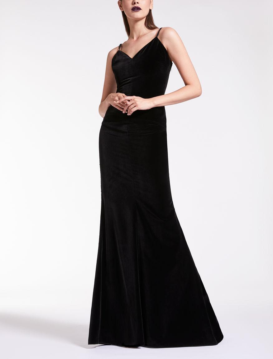 Kleid aus Samt und Georgette