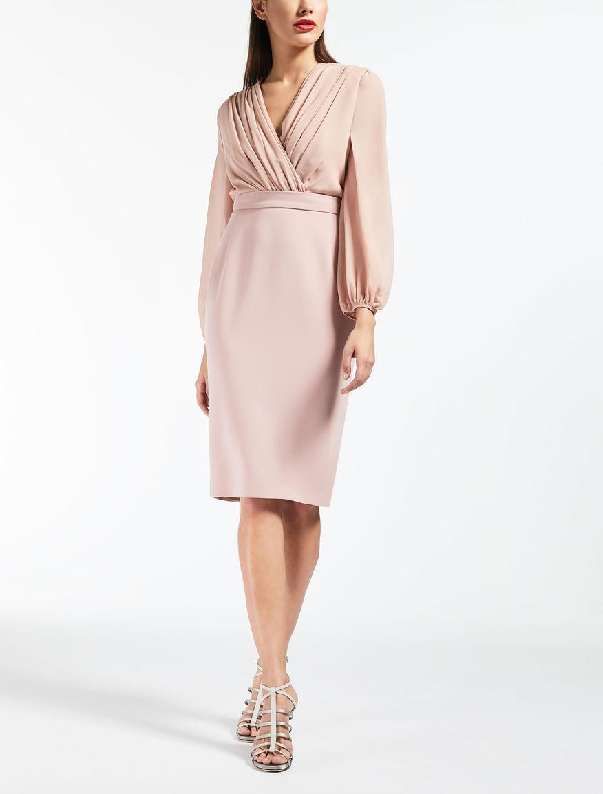 Kleid aus Seiden-Georgette und Cady