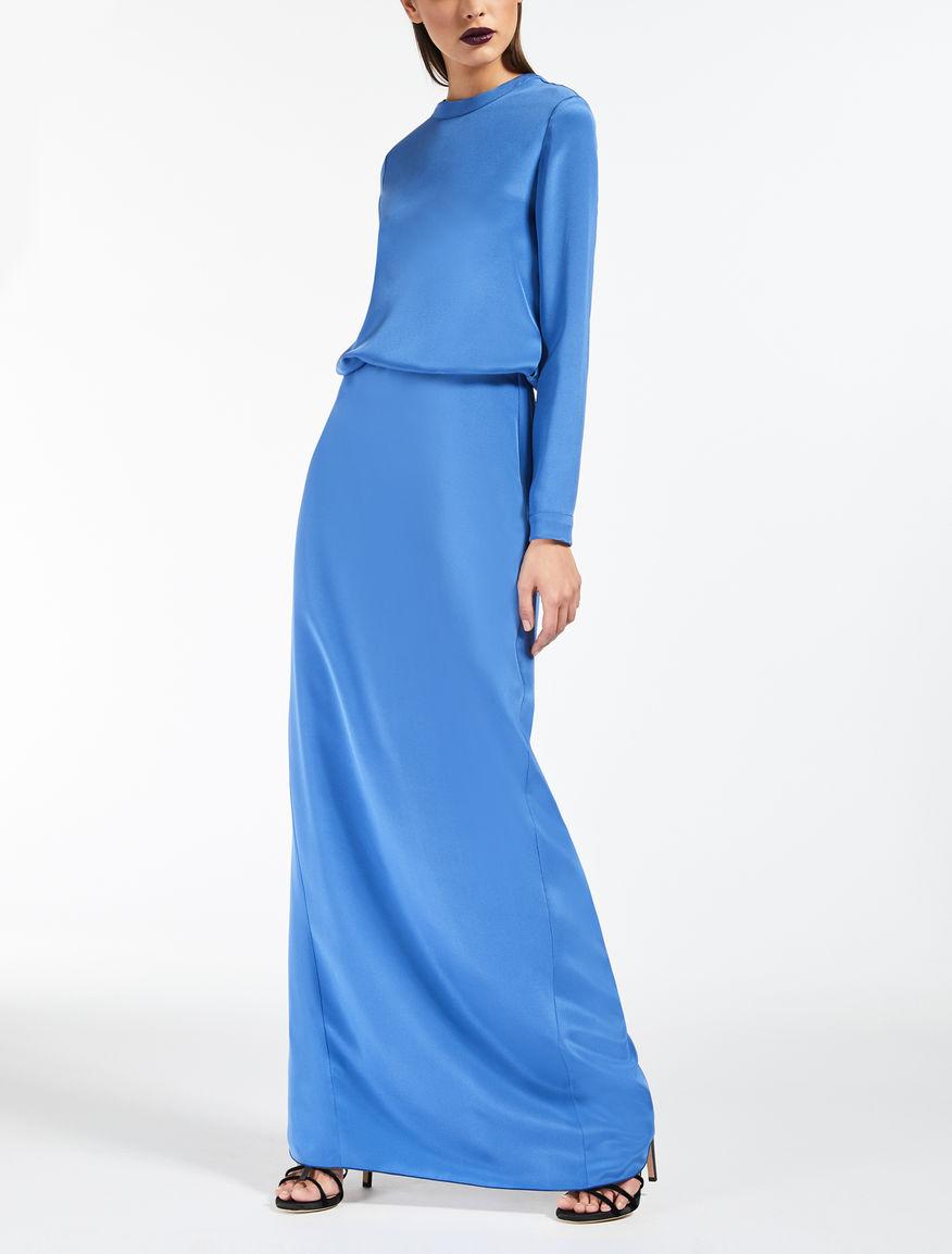 Kleid aus Crêpe-de-Chine-Seide