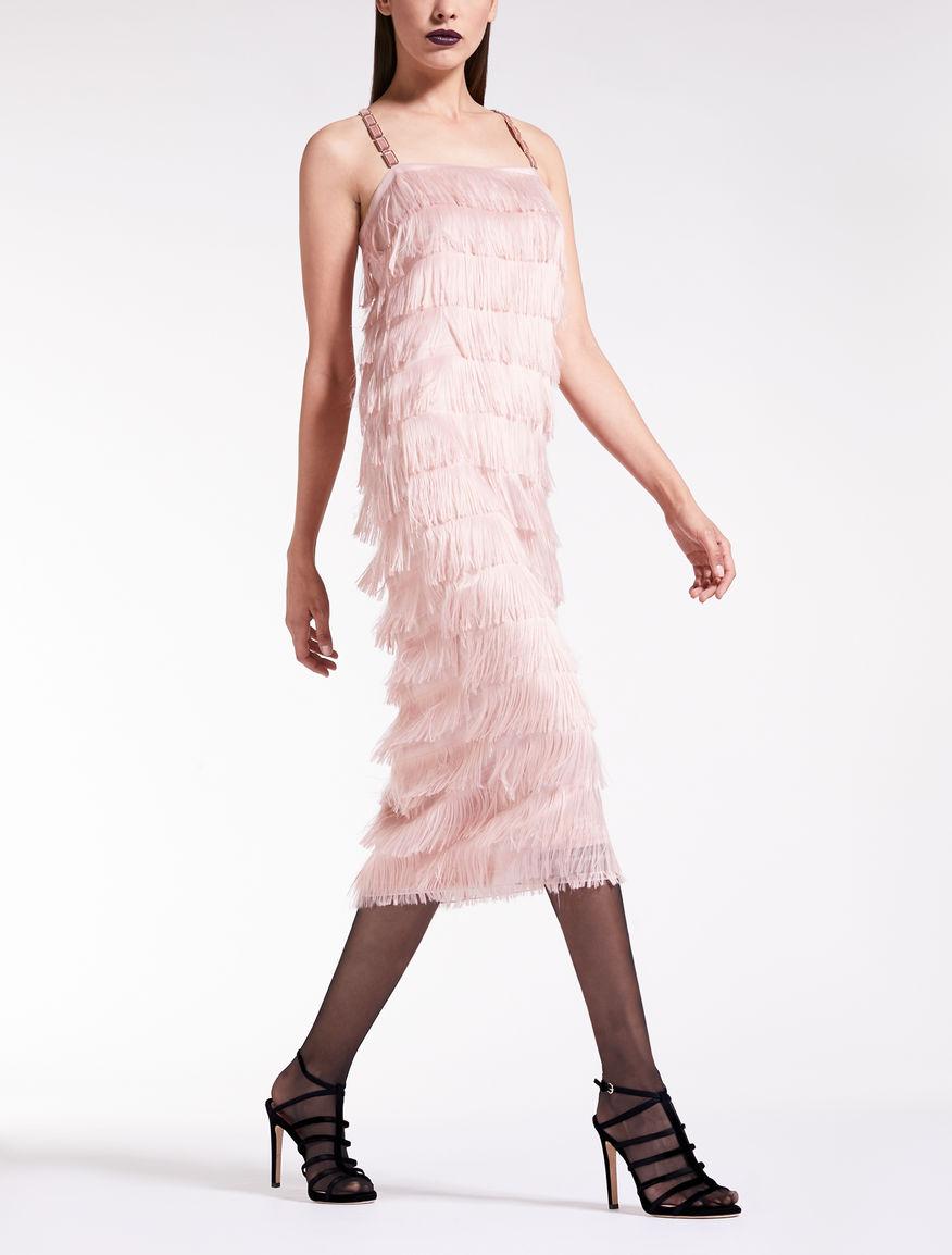 Kleid aus Organza Fil Coupé