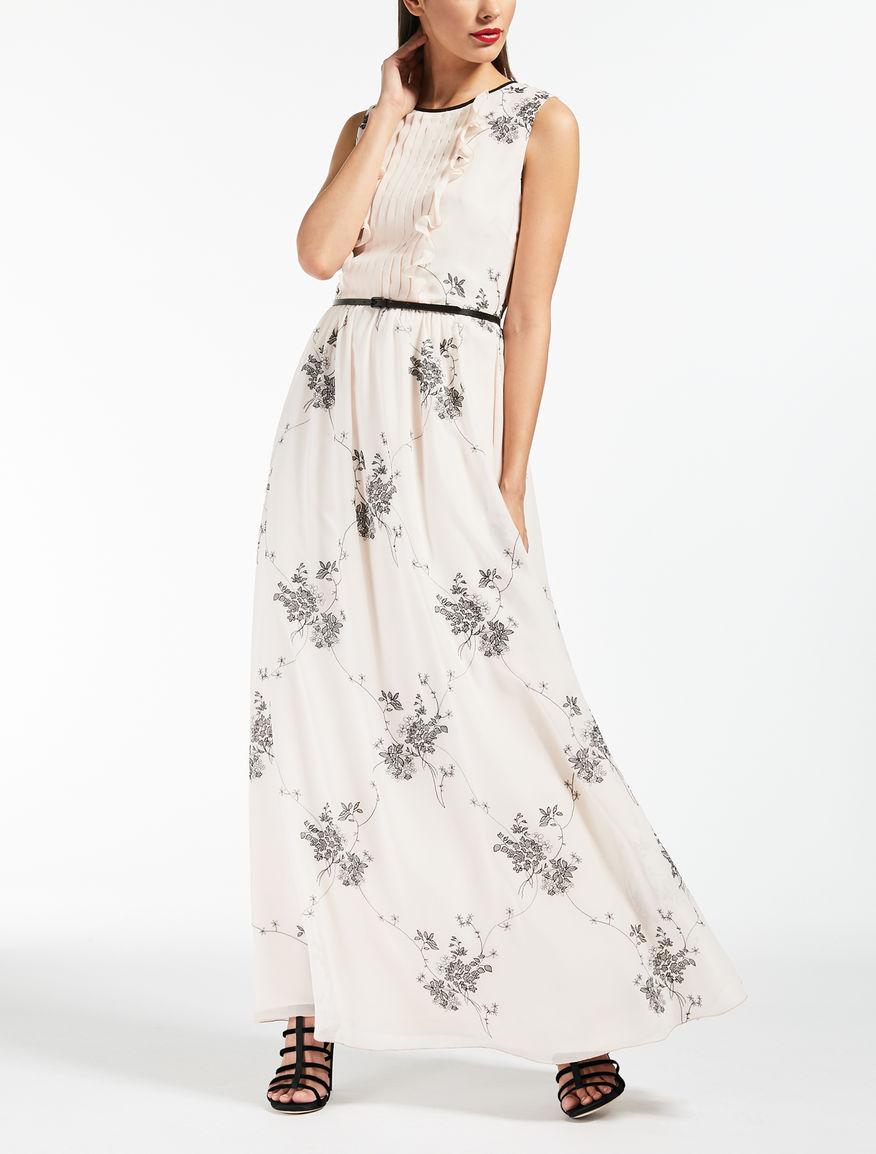 Kleid aus besticktem Seiden-Georgette
