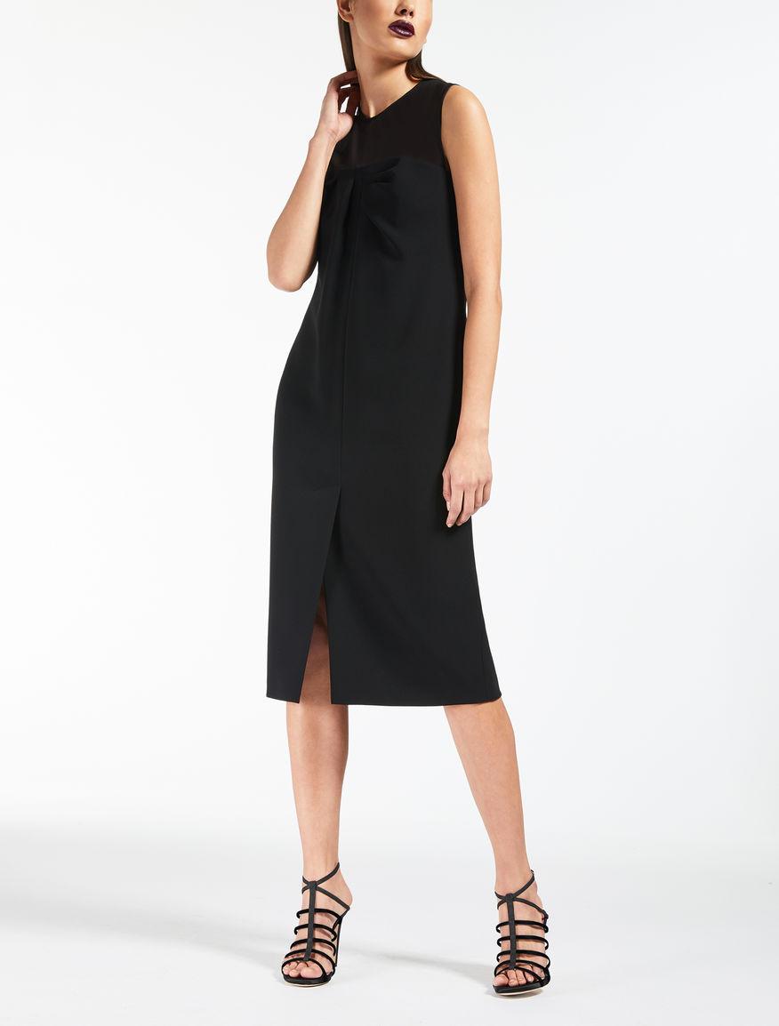 Kleid aus Cady und Seiden-Georgette