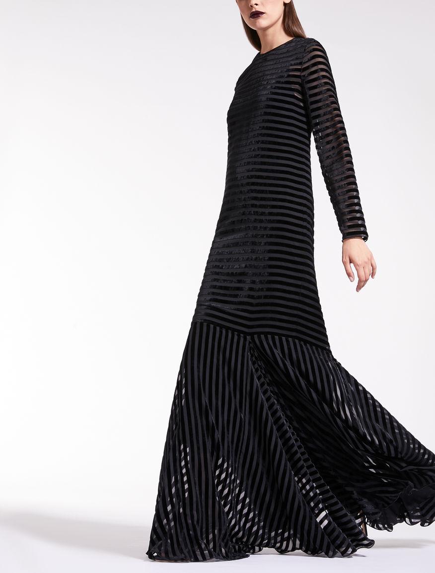 Kleid aus Dévoré-Samt