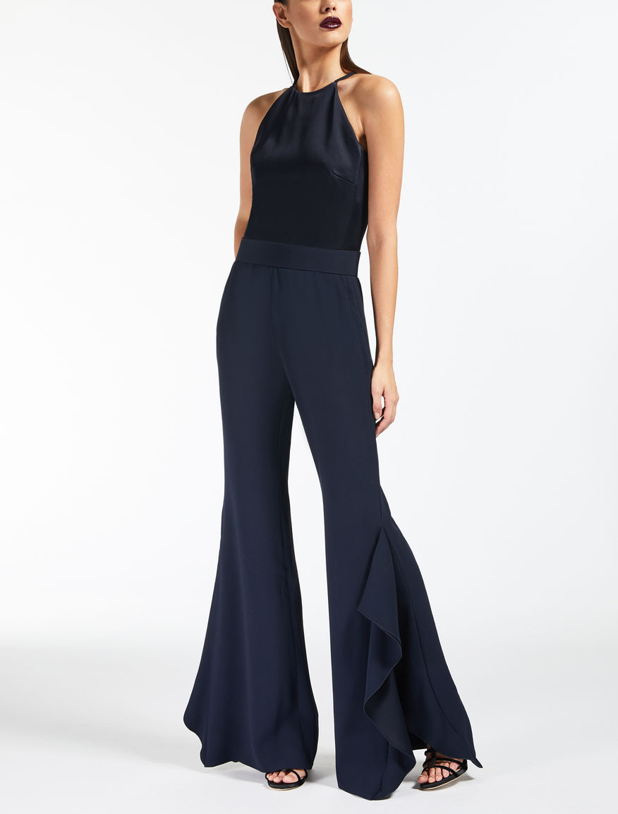 Envers satin crepe jumpsuit