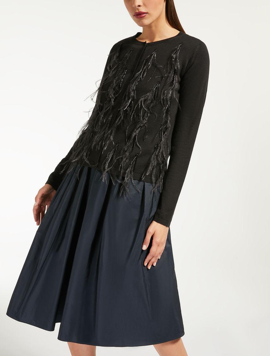 Cardigan en fil de soie et de laine