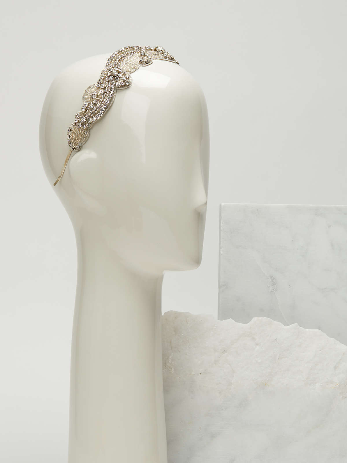 Rhinestone embroidered headband