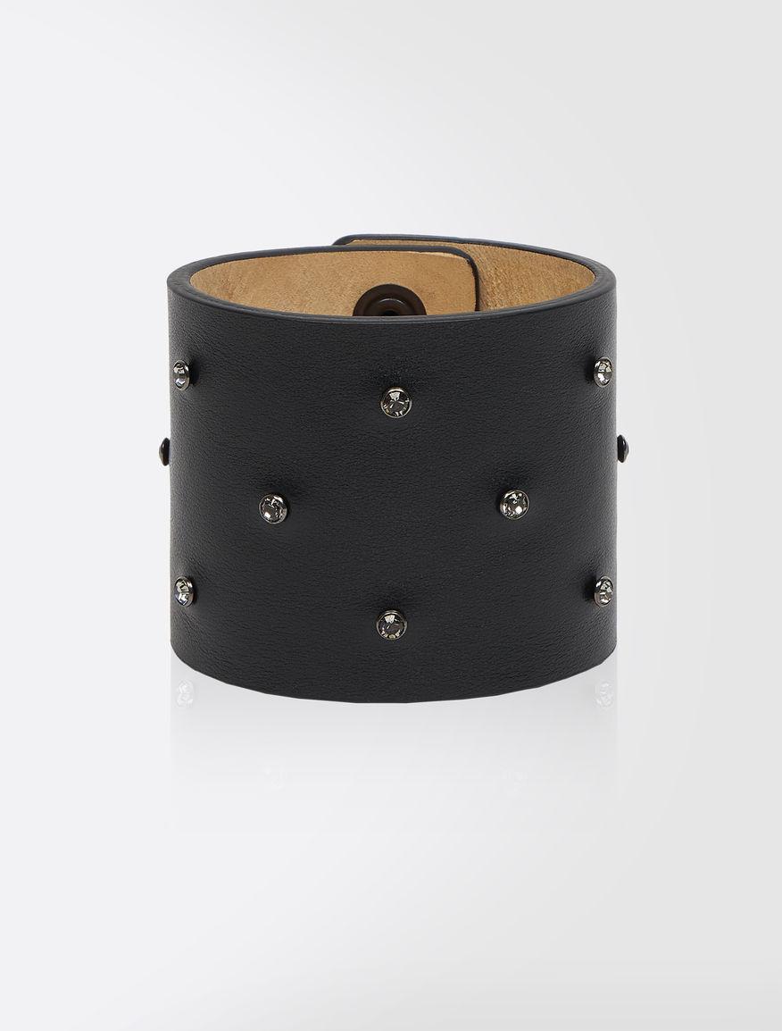 Bracelet en cuir et strass