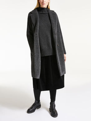 Manteau en alpaga effet bourru et laine