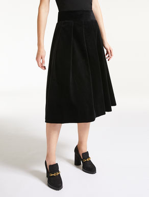 Cotton velvet skirt