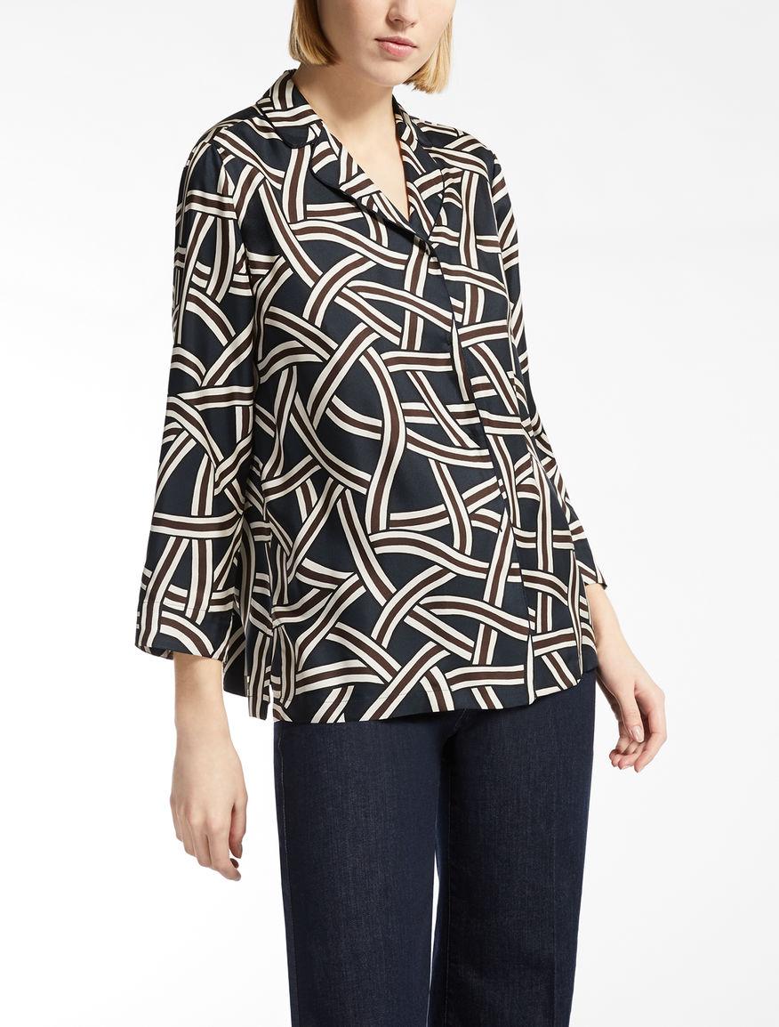 Silk twill shirt
