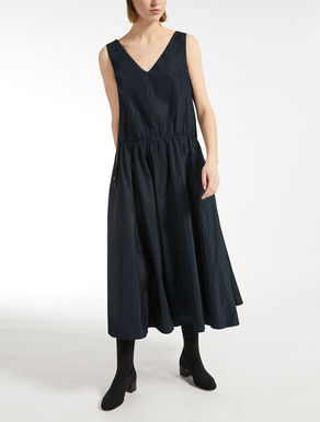 Two-piece taffeta and jersey dress