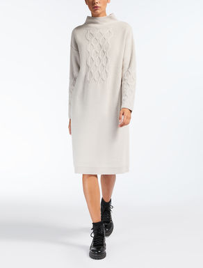 Cashmere and wool yarn dress