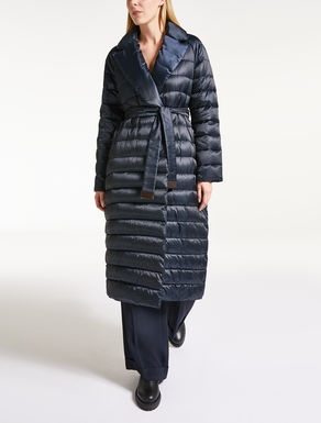Long taffeta down jacket