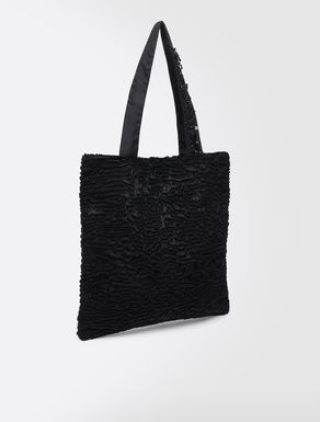 Karakul-effect fabric shopper