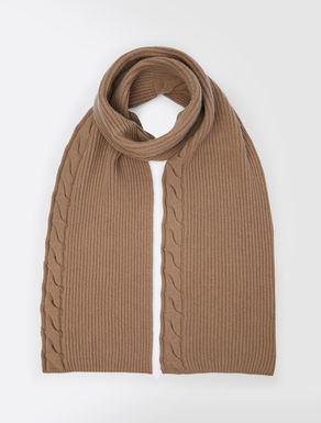 Cashmere and wool yarn scarf