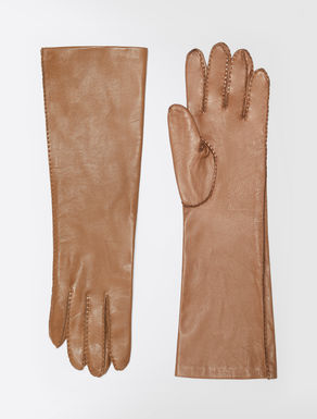 Long nappa leather gloves