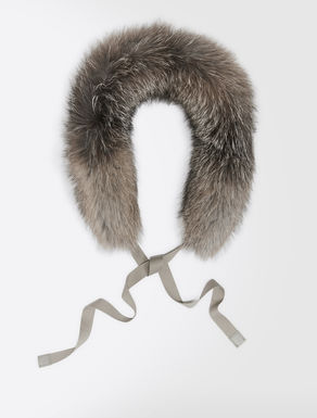 Frost fox-fur hood trim