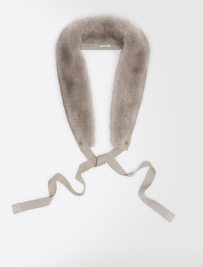 Bordure de capuche en vison