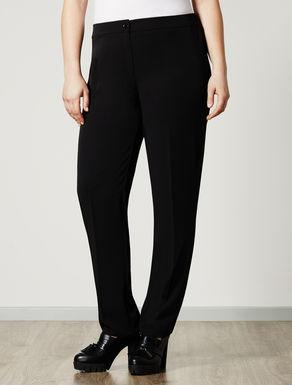 Pantalone slim fit con elastico in vita