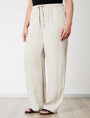 Pantalone ampio in viscosa fluida