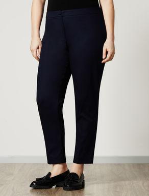 Pantalone slim fit in piquet stretch