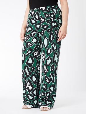 Pantalone in crêpe de Chine di seta