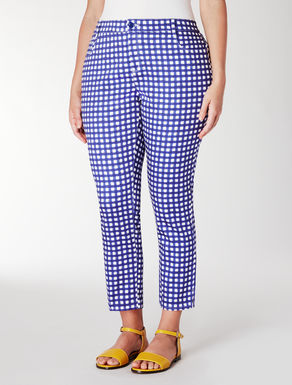 Pantalone in piquet stretch stampato