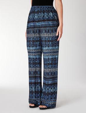 Pantalone ampio in viscosa stampata