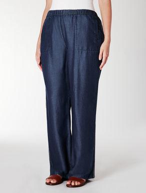 Pantalone in tencel indaco