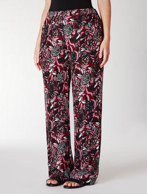 Pantalone in crêpe de Chine stampato