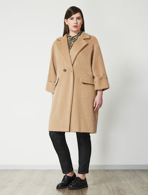Wool and mohair double-breasted coat