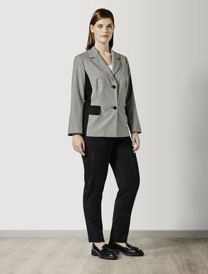 Stretch polyviscose blazer