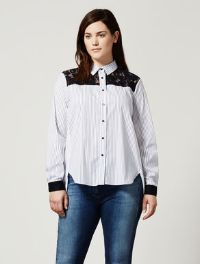 Poplin and lace shirt