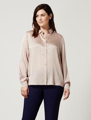 Boxy satin shirt with dévoré print