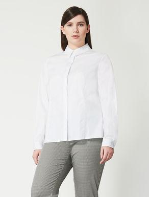 Bluse aus Popeline mit Lurexstreifen