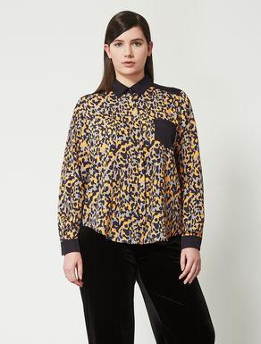 Bluse aus bedrucktem Crêpe de Chine