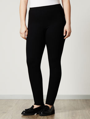 Super-stretch leggings with elastic
