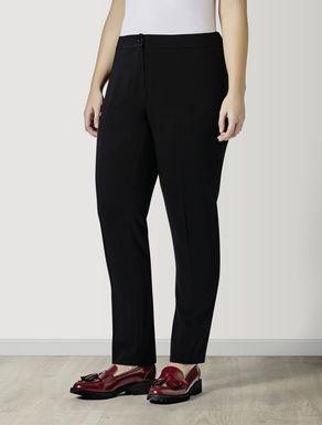 Slim fit fluid fabric trousers
