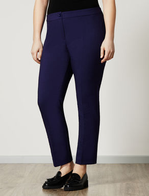 Stretch jacquard trousers