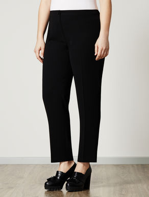 Slim trousers in structured fabric