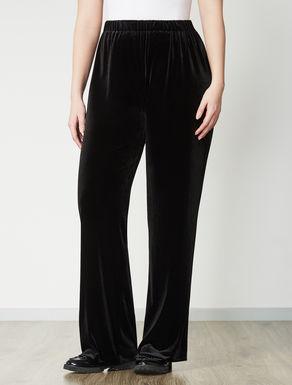 Velvet jersey palazzo trousers