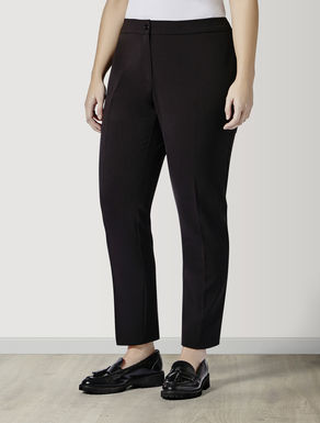 Trousers in diagonal stretch fabric
