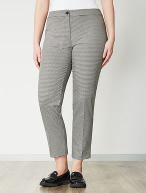Patterned slim-fit trousers